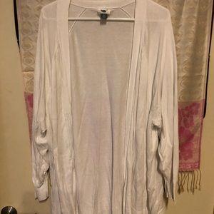 Lightweight white cardigan
